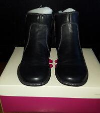 Naturalizer Rylen Black Lea Women Boots Shoes Size 7.5 1/2 N Style # E4129L2002