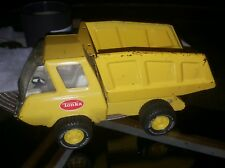 "Vintage 1970's Tonka Yellow 5"" Dump Truck Pressed Metal"