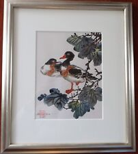 Original Painting on Silk Paper & Hand Signed By Caroline Young. Low Low Price