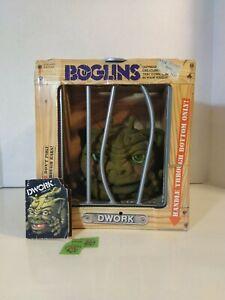 "Vintage Boglins ""DWORK"" Puppet glow in dark moving eyes RARE w/ tag 1987"
