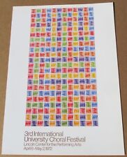 Mario Yrisarry for the Third INTL Choral Festival  Offset Lithograph 16X11 LC