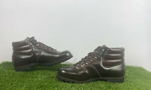 Cebo Mens Brown Leather walking Boots Size Uk 10