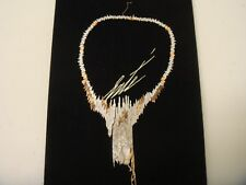 "Erte ""Sophistication"" Diamond & Mother of Pearl 18k, 14k Gold Necklace & Pin,"