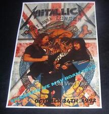 Metallica concert poster Wembley Arena London UK 1992 new A3 size repro