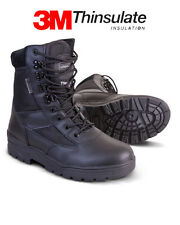 Military Army Half Leather Combat Patrol Boot Tactical Black Cadet All Sizes New