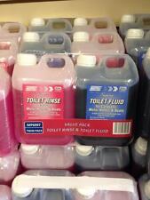 TOILET RINSE & FLUID CHEMICAL 2 LITRE TWIN PACK CARAVAN MOTORHOME BOATS CAMPER