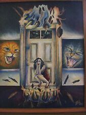 Catastrophe Horror Art Painting Print Scary Cats Kittens