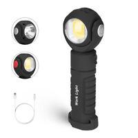 USB Rechargeable COB LED Work Light Lamp Flashlight Twist 360° Inspect Torch