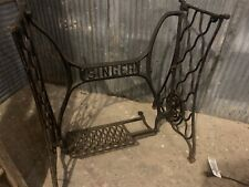 Antique Singer Sewing Machine Treadle Base Cast Iron Table Legs Custom Furniture