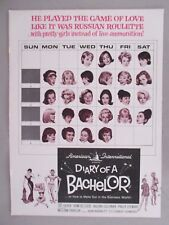 """""""Diary of A Bachelor"""" Movie Release PRINT AD - 1964"""