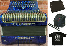 Hohner Xtreme Corona Ii Dark Blue Fbe/Fa Accordion Deluxe Case/Bag/Straps/Tshirt