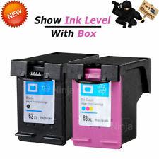 2pk 63XL Ink Cartridge for HP Envy 4512 4516 4520 OfficeJet 5255 5258 Printer