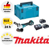 Makita Akku Winkelschleifer 18V DGA513RTJ + 2x Akku 5,0 Ah + Ladegerät + Koffer