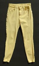 AMERICAN APPAREL Yellow Stretch Ankle Zip High Waist Skinny Jeans size 28/29 6