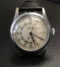 Rare 1950s Mans GRUEN Precision Very Thin Pan-American Pan Am Pilot's Watch
