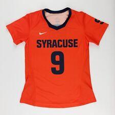 New Nike Women's Medium Syracuse Orange Digital Game Lacrosse Jersey Shirt #9