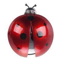 New Dark Red Plastic Car Air Vent Ladybug Design Fragrance Purifier Freshne W1J1