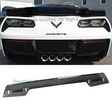 Fit 14-up C7 Corvette Z06 Z07 Stage 3 Smoke Tinted Rear Spoiler Wickerbill
