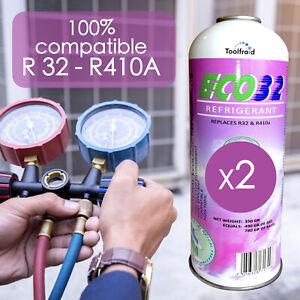 2 Gaz R32 Réfrigérant ECO32 compatibles R32, R410A, Gaz R32 pour climatisation