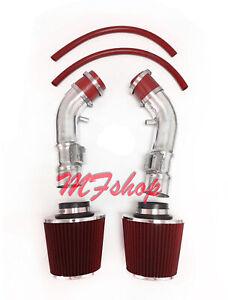 Red For 2014-2015 Infiniti Q50 3.7L V6 Air Intake System Kit + Filter