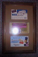 "Vintage Wapakoneta businesses postcards, framed, 9 1/2"" x 15"""