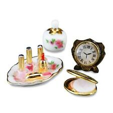 DOLLHOUSE Perfume & Compact Set 1.716/5 Clock Nail Polish Reutter Miniature
