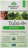 Organic India Tulsi Tea Organic Moringa Tea, 18 Count