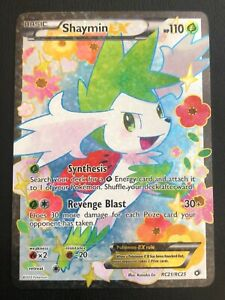 POKEMON CARD BW LEGENDARY TREASURES - SHAYMIN EX RC21/RC25 ULTRA RARE - NM