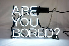 New Are You Bored Shoe Bar Pub Acrylic Neon Light Sign 14""