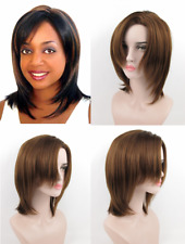 WOMENS MEDIUM SHOULDER LENGTH STRAIGHT HAIR LAYERED ZIG-ZAGGED CENTER WIG HEIDI