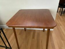 raight Edge Folding Card Table Cherry Finish