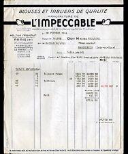 """PARIS & LE MANS (II° / 72) USINE de VETEMENTS de TRAVAIL """"L'IMPECCABLE"""" en 1954"""