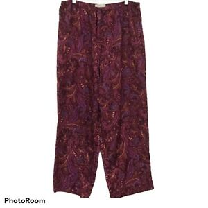 Intimates Lane Bryant Purple Gold Paisley Pajama Lounge Pants Polyester 18/20