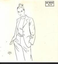 illustrazione SERGIO ZANIBONI menù pranzo Diabolik Club 20/10/2002