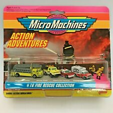 MICRO MACHINES 1994 #16 FIRE RESCUE LA FRANCE DATSUN FORD TAURUS VAN + HOT DEAL