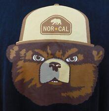 Nor Cal Black Brown Bear Star Short Sleeve Crew Neck Cotton Shirt Us M'S Sz Xl