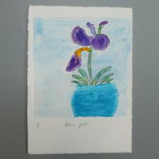 More details for mm042 blue pot mystery masterpieces art auction postcard floral 15 x10.5cm
