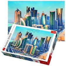 Trefl 2000 Piece Adult Large Doha Skyline Qatar Middle East Floor Jigsaw Puzzle