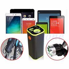 New 4x18650 Battery Storage Case Box Holder USB For Bike Samsung w/LED Light
