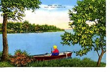 Greetings from Harbor Lights-Camp Lake-Michigan-Novelty Add-on Vintage Postcard