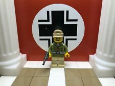 WWII LEGO German Oberleutnant Panzertrooper D.A.K. 1942 with Luger & Field Cap