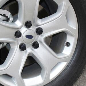 20pcs Car Wheel Nut / Bolt Head Cover Cap 17mm Hex + 1* Black Clip Accessories