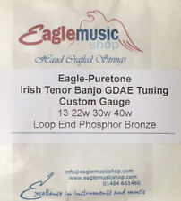 Irish Tenor BANJO Custom String Set GDAE 13, 22w, 30w, 40w Eagle-Puretone LE PB