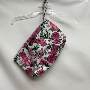 BETSEY JOHNSON Floral Flower Large Zip Wristlet Clutch Bag