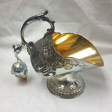 Vintage Leonard Silverplate Scuttle Candy/Nut/Sugar Bowl + Scoop Set Ships Free!