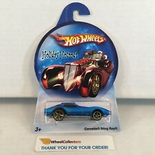 Corvette Sting Ray * Blue * Hot Wheels Holiday Rods * A24
