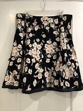 New Elevenses Corduroy Pink Floral Flower Black Skirt 12 Bow Satin Pleat Bottom
