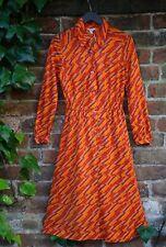 Vintage 1970s Groovy Dagger Collar Midi Length Shirt Dress