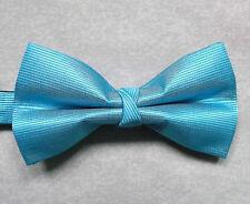 """NUOVO Lusso Papillon uomo cravattino sottile design a righe blu vivace 14"""" - 21.5"""""""