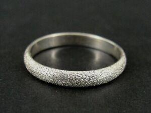 Ring Silver Textured Band Texture Stackable Sterling 925 Size 8 Ring